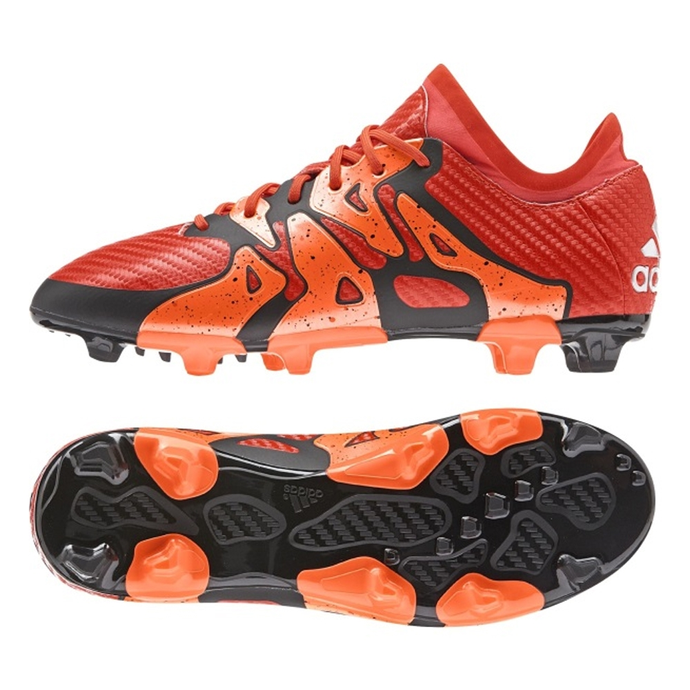 Adidas X 15.1 Youth FG/AG Soccer Cleats (Solar Orange/Black/Bold Orange)