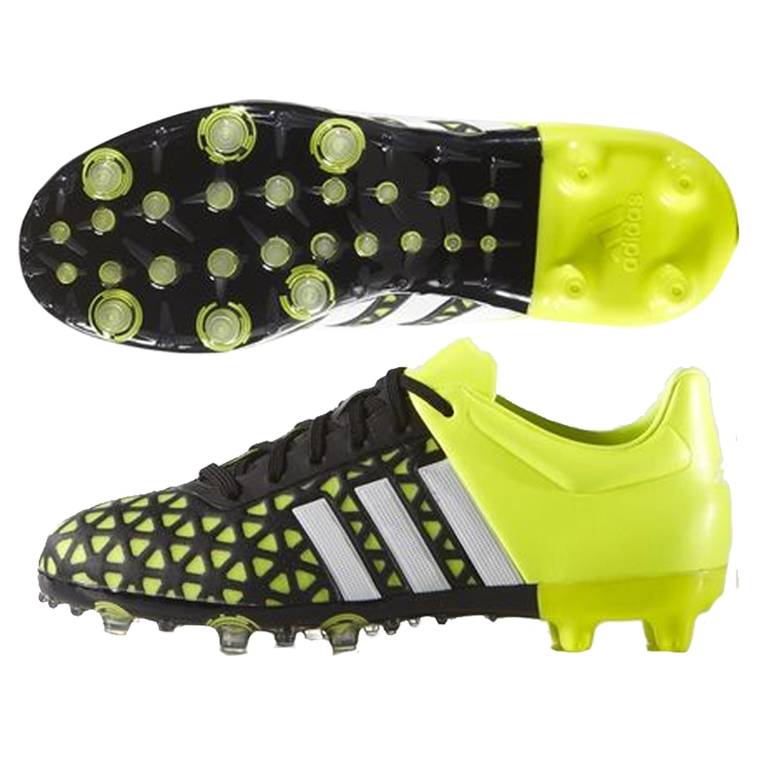 Adidas ACE 15 1 Youth FG AG Soccer Cleats Black White Solar Yellow