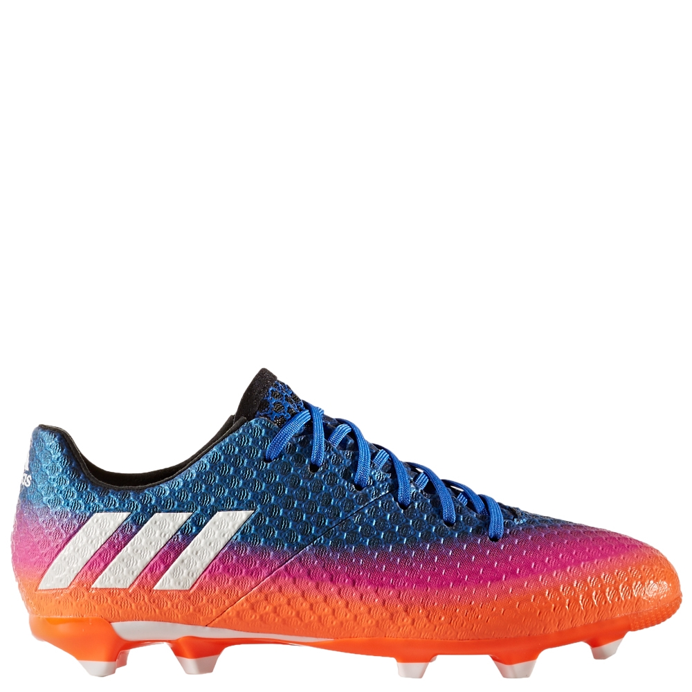 adidas messi 16 1 youth fg soccer cleats blue white solar. Black Bedroom Furniture Sets. Home Design Ideas