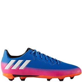 Adidas Messi 16.3 Youth FG Soccer Cleats (Blue/White/Solar Orange) |  Adidas Soccer Cleats | FREE SHIPPING | Adidas BA9147 |  SOCCERCORNER.COM