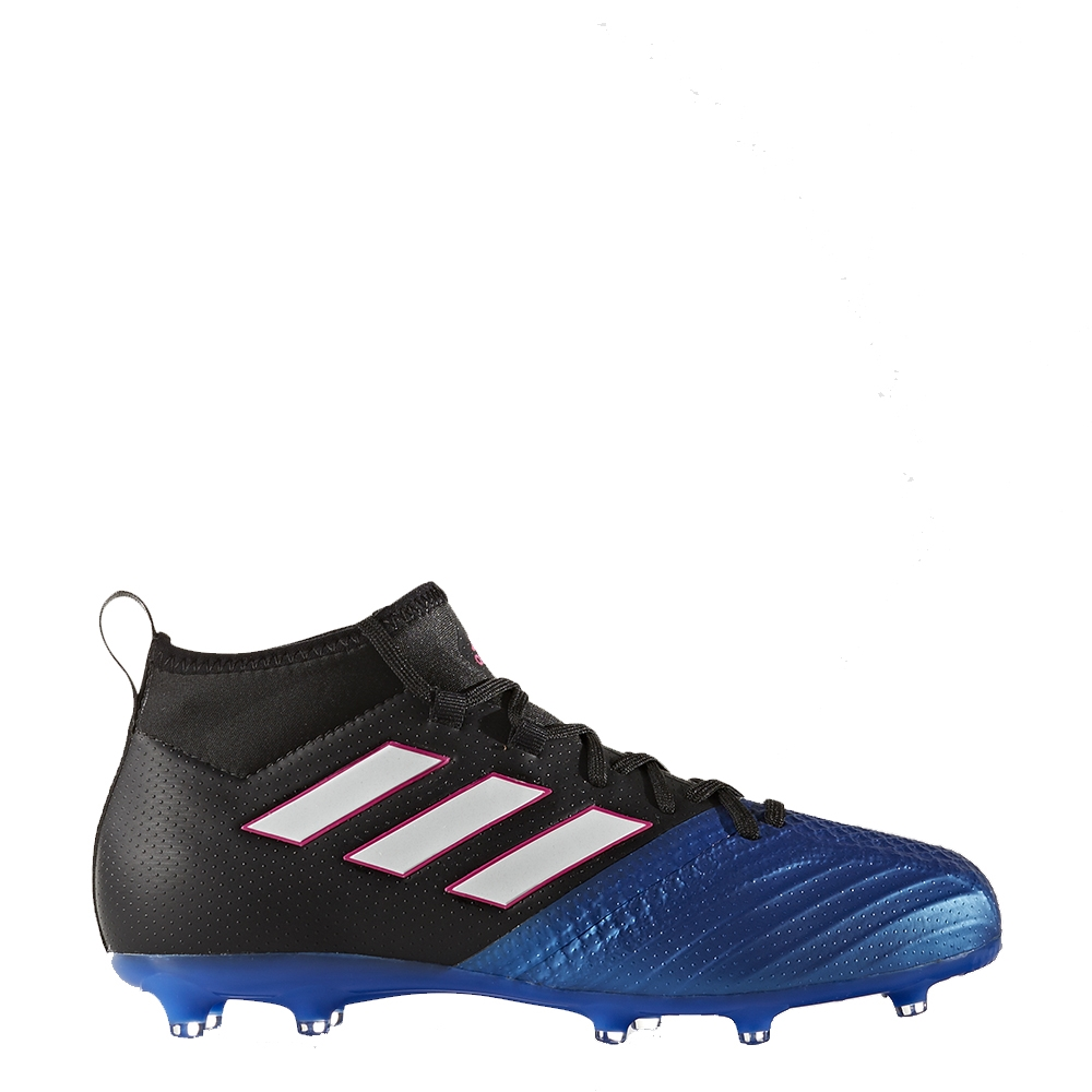 official photos 510a2 dbf30 Adidas ACE 17.3 Primemesh Youth FG Soccer Cleats (Black/White/Blue)