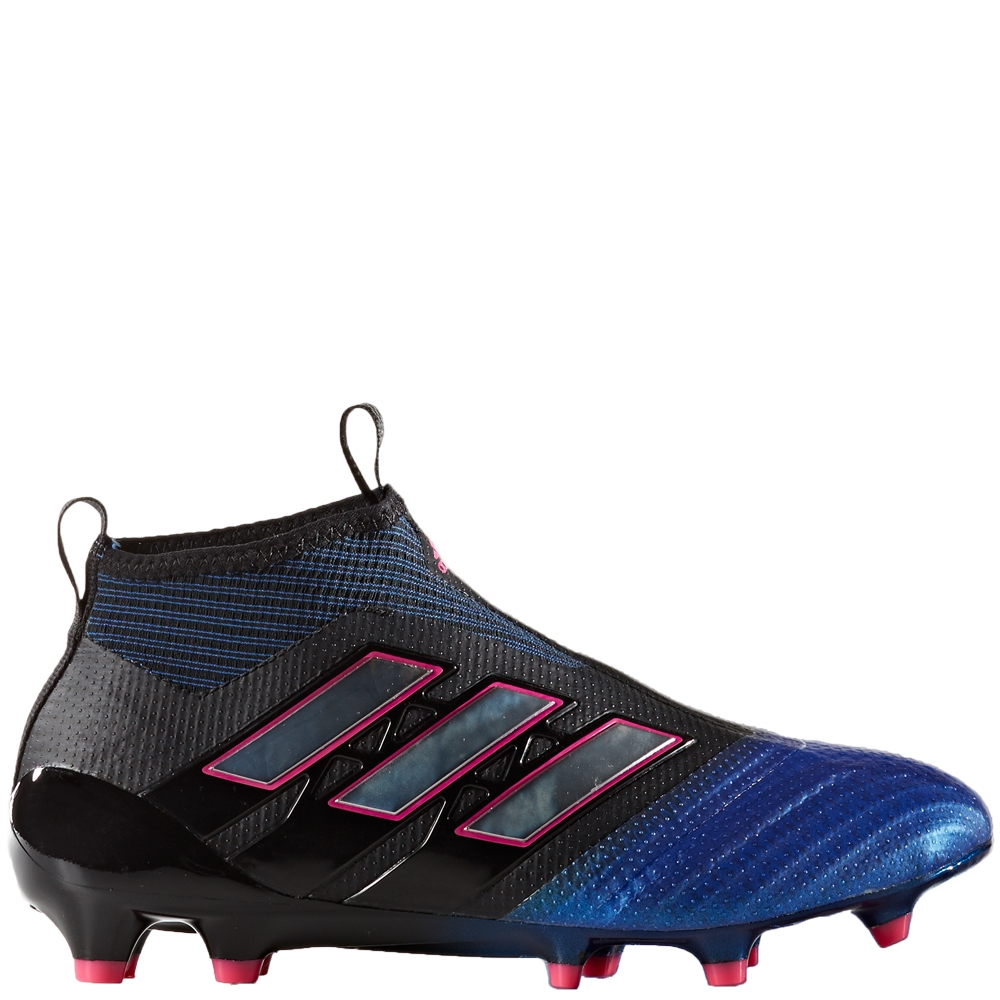 new concept 4f09b 0e43e Adidas ACE 17+ Purecontrol Youth FG Soccer Cleats (Black White Blue)