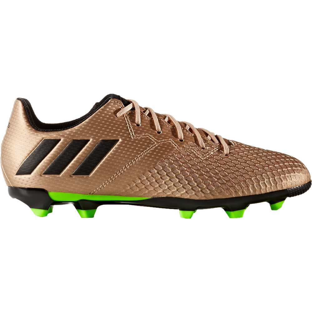 e4de667a1 Adidas Messi 16.3 Youth FG Soccer Cleats (Copper Metallic Black Solar Green)