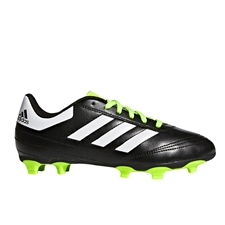 Adidas Youth Goletto VI FG Soccer Cleats (Black/White/Solar Green) | Adidas Soccer Cleats | FREE SHIPPING | Adidas BB0570 |  SOCCERCORNER.COM