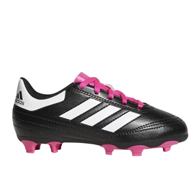 Adidas Youth Goletto VI FG Soccer Cleats (Black/White/Shock Pink) | Adidas Soccer Cleats | FREE SHIPPING | Adidas BB0571 |  SOCCERCORNER.COM