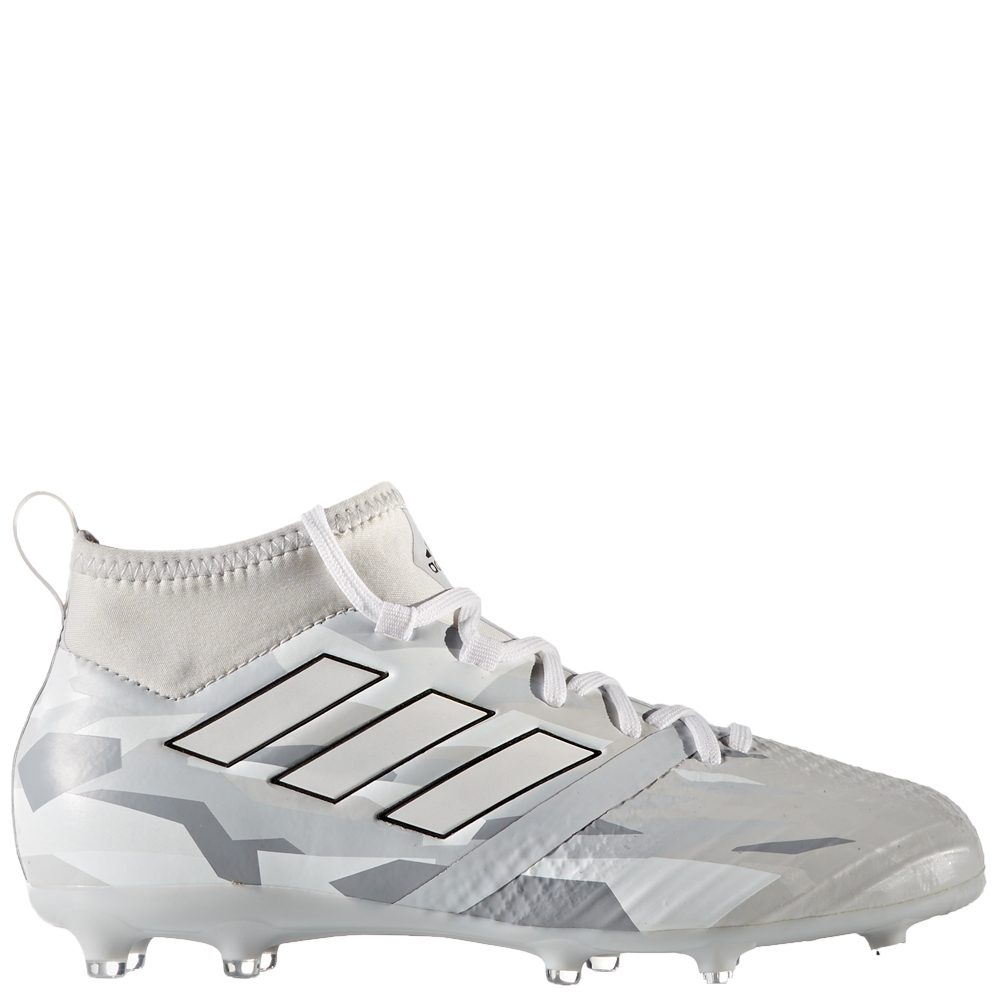 3a7aa5b6876e Adidas ACE 17.1 Primeknit Youth FG Soccer Cleats (Clear Grey/White/Core  Black