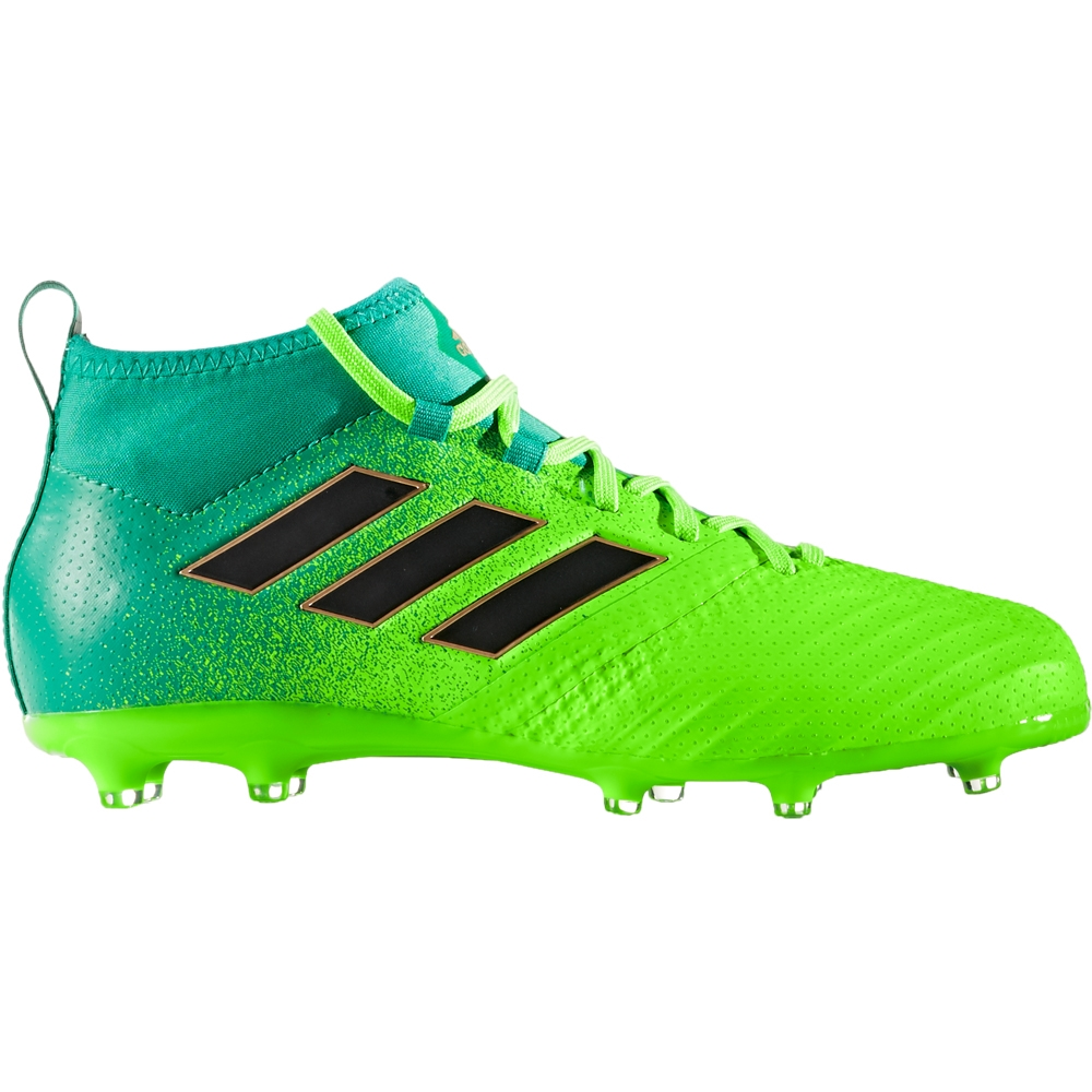 e07e3714f16f ... Adidas ACE 17.1 Primeknit Youth FG Soccer Cleats (Solar Green/Core  Black/Core ...