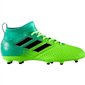 Adidas ACE 17.3 Primemesh Youth FG Soccer Cleats (Solar Green/Core Black/Core Green) | Adidas Soccer Cleats |FREE SHIPPING| Adidas BB1027 |  SOCCERCORNER.COM