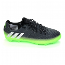 Adidas Messi 16.1 Youth FG Soccer Cleats (Dark Grey/Silver Metallic/Slime Green) |  Adidas Soccer Cleats | FREE SHIPPING | Adidas BB3851 |  SOCCERCORNER.COM