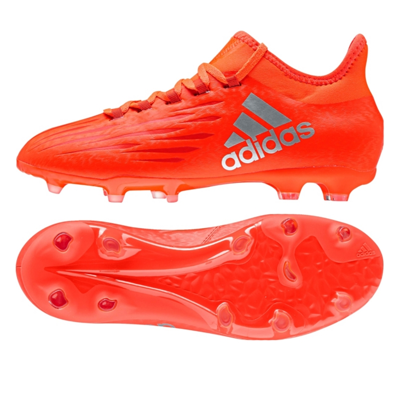 fae702be672 Adidas X 16.1 Youth FG Soccer Cleats (Solar Red Silver Metallic)
