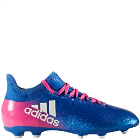 Adidas X 16.1 Youth FG Soccer Cleats (Blue/White/Shock Pink) |  Adidas Soccer Cleats | FREE SHIPPING | Adidas BB5692 |  SOCCERCORNER.COM