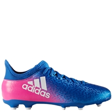 Adidas X 16.3 Youth FG Soccer Cleats (Blue/White/Shock Pink) | Adidas BB5695 | SOCCERCORNER.COM