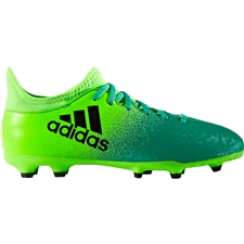 Adidas X 16.3 Youth FG Soccer Cleats (Solar Green/Core Black/Core Green) | Adidas BB5859 | SOCCERCORNER.COM