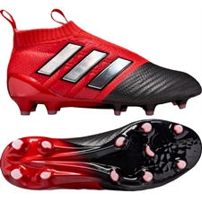 Adidas ACE 17+ PURECONTROL Youth FG Soccer Cleats (Red/White/Black) |  Adidas Soccer Cleats |FREE SHIPPING| Adidas BB5946 |  SOCCERCORNER.COM