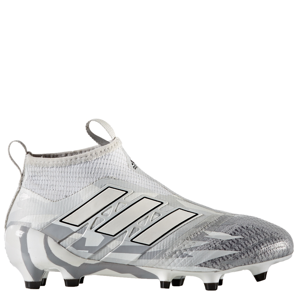lowest price cf1dc e2fa9 Adidas ACE 17+ Purecontrol Youth FG Soccer Cleats (Clear GreyWhiteCore