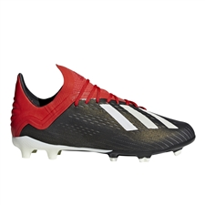 Adidas X 18.1 Youth FG Soccer Cleats (Core Black/White/Active Red) | Adidas BB9351 |  SOCCERCORNER.COM