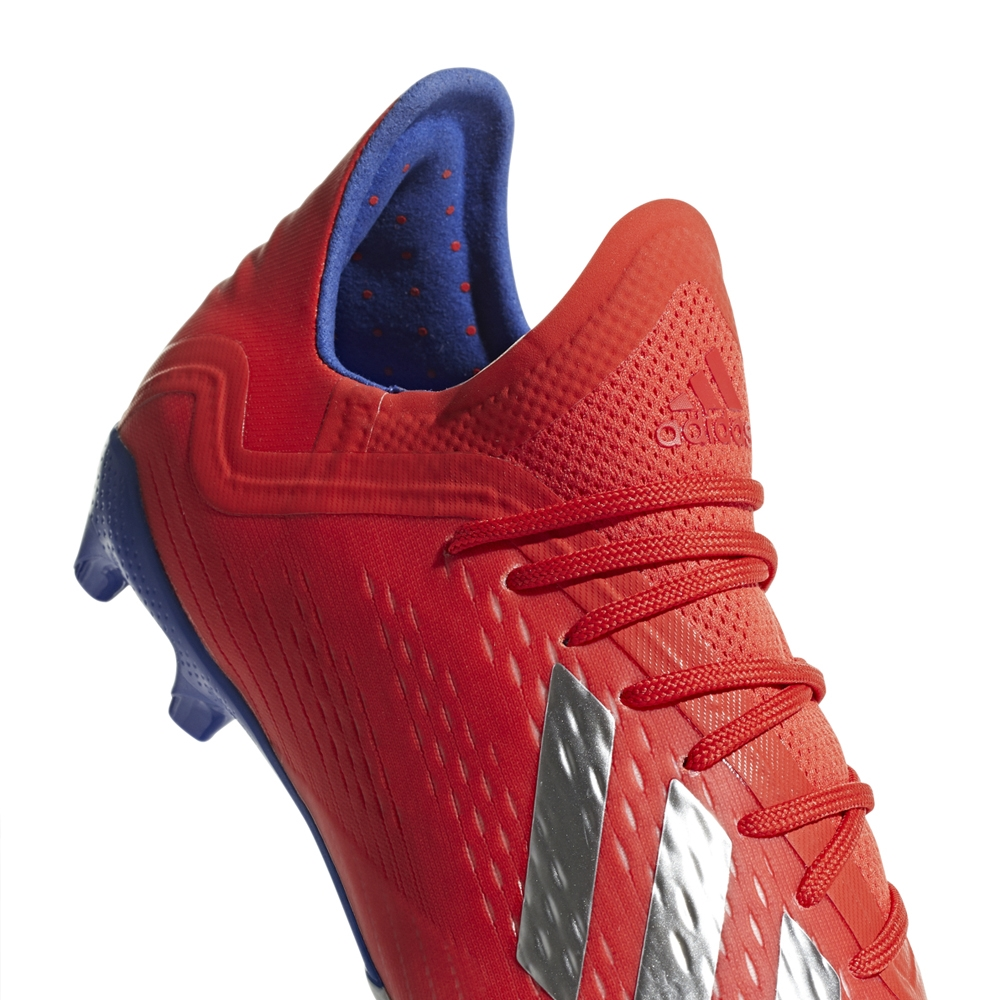 3524649713b6 Adidas X 18.1 Youth FG Soccer Cleats (Active Red/Silver Metallic/Bold Blue)