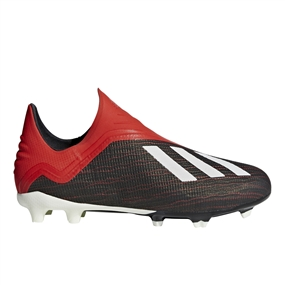 Adidas X 18+ Youth FG Soccer Cleats (Core Black/White/Active Red)