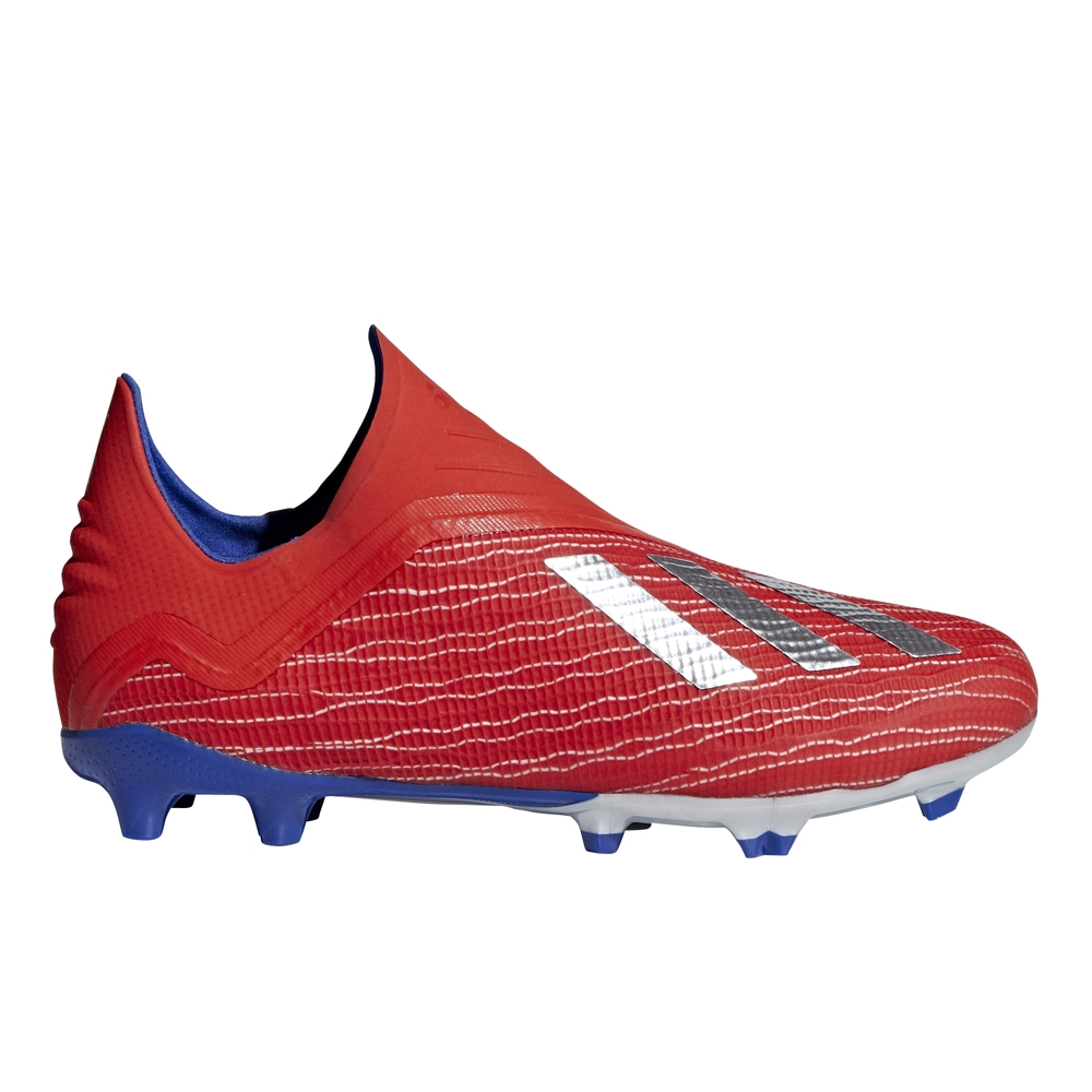 brand new 01ea7 5a493 Adidas X 18+ Youth FG Soccer Cleats (Active Red/Silver Metallic/Bold Blue)