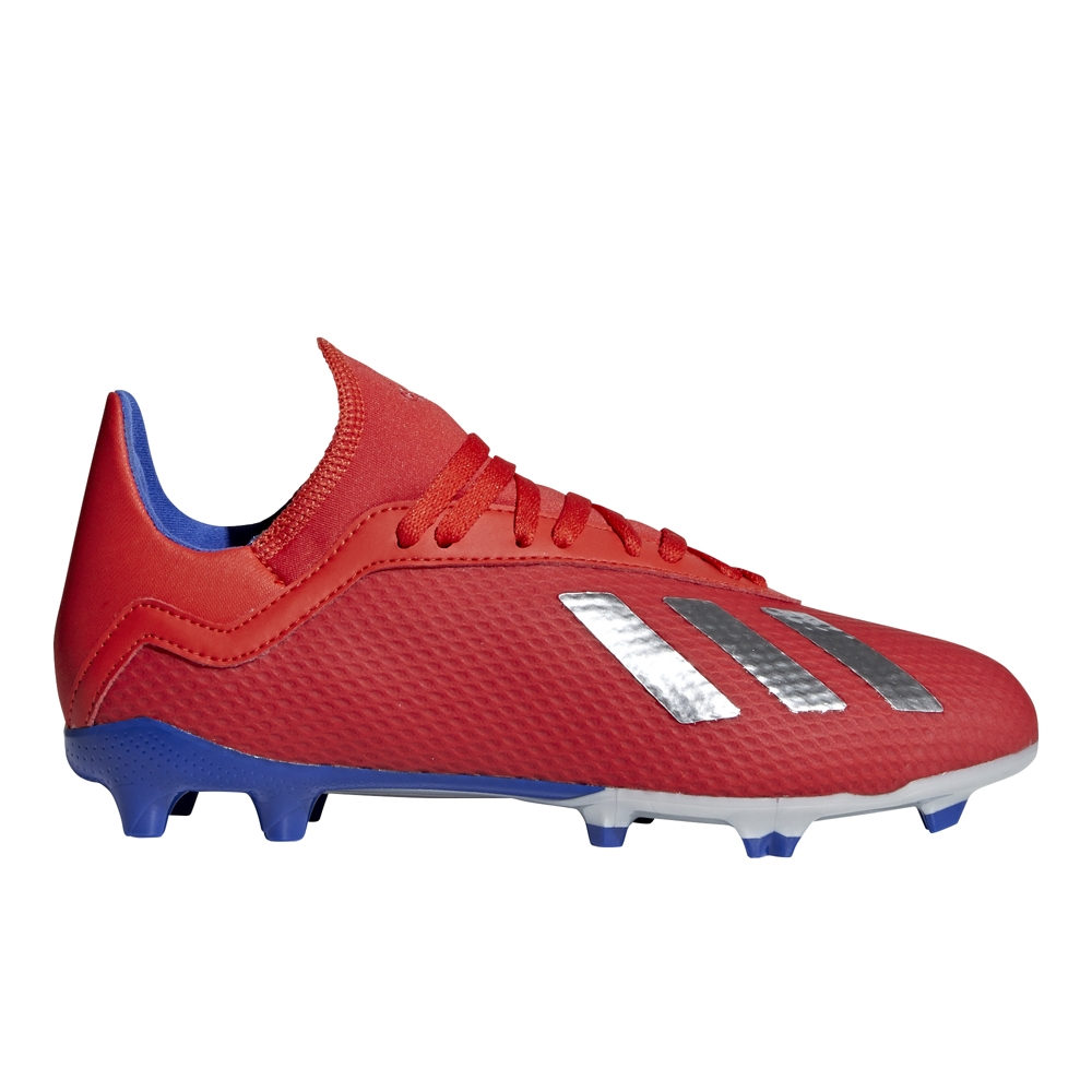 cc3f27d90 Adidas X 18.3 Youth FG Soccer Cleats (Active Red Silver Metallic ...
