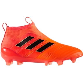 Adidas ACE 17+ Purecontrol Youth FG Soccer Cleats (Solar Orange/Core Black/Solar Red) |  Adidas Soccer Cleats |FREE SHIPPING| Adidas BY2187 |  SOCCERCORNER.COM