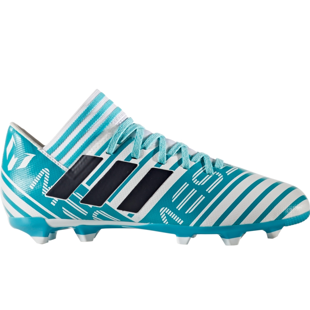 cfe5a1420 Adidas Nemeziz Messi 17.3 Youth FG Soccer Cleats (White/Legend Ink/Energy  Blue