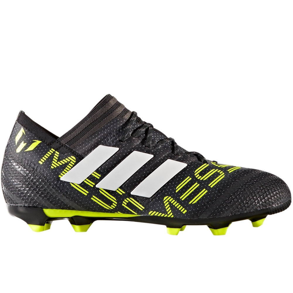ed0b79ead89a Adidas Nemeziz Messi 17.1 Youth FG Soccer Cleats (Core Black White Solar  Yellow