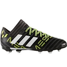 Adidas Nemeziz Messi 17.3 Youth FG Soccer Cleats (Core Black/White/Solar Yellow) |  Adidas Soccer Cleats |FREE SHIPPING| Adidas CG2966 |  SOCCERCORNER.COM