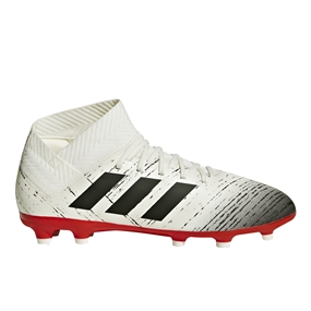 Adidas Nemeziz 18.3 Youth FG Soccer Cleats (Off White/Core Black/Active Red) | Adidas CM8508