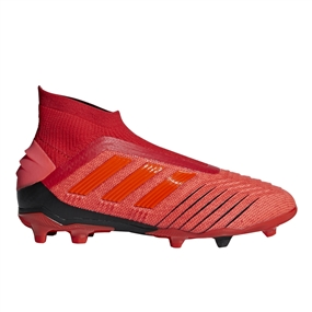 Adidas Predator 19+ Youth FG Soccer Cleats (Active Red/Solar Red/Core Black)