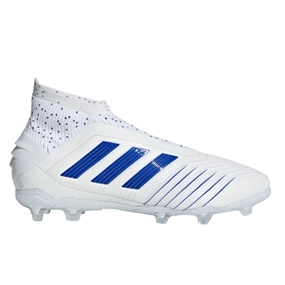 Adidas Predator 19+ Youth FG Soccer Cleats (White/Bold Blue)