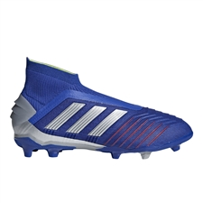 Adidas Predator 19+ Youth FG Soccer Cleats (Bold Blue/Silver Metallic/Football Blue)