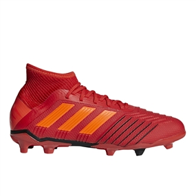 Adidas Predator 19.1 Youth FG Soccer Cleats (Active Red/Solar Red/Core Black)