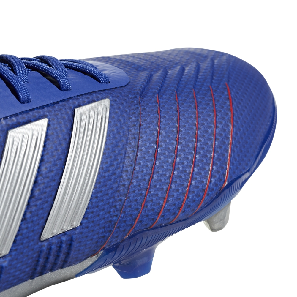 56337f8c274 Adidas Predator 19.1 Youth FG Soccer Cleats (Bold Blue Silver Metallic  Football ...