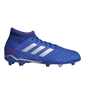 Adidas Predator 19.3 Youth FG Soccer Cleats (Bold Blue/Silver Metallic/Active Red)