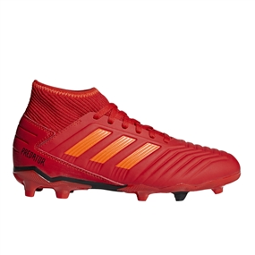 Adidas Predator 19.3 Youth FG Soccer Cleats (Active Red/Solar Red/Core Black)