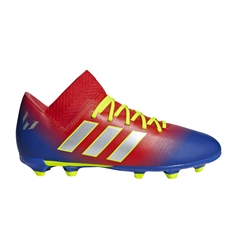 Adidas Nemeziz Messi 18.3 Youth FG Soccer Cleats (Active Red/Silver Metallic/Football Blue) | Adidas CM8627