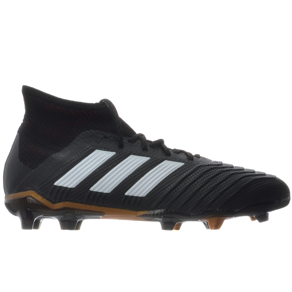 ae7650fb1b0 Adidas Predator 18.1 Youth FG Soccer Cleats (Core Black White Solar ...
