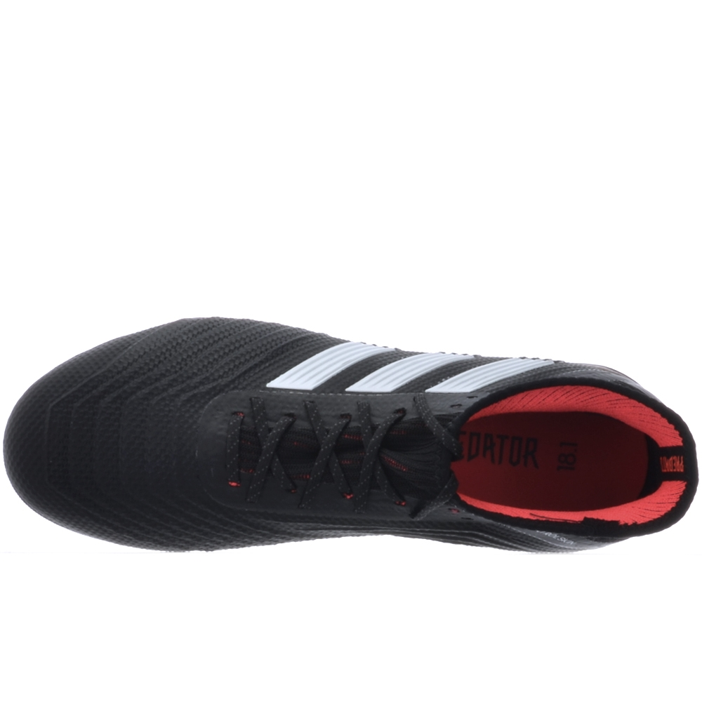 6e1935cf58891 Adidas Predator 18.1 Youth FG Soccer Cleats (Core Black White Solar Red)