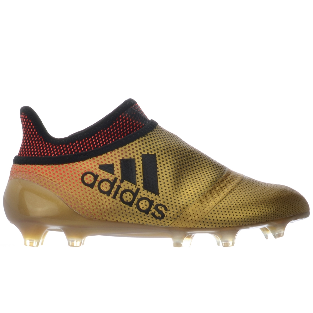 premium selection fa0f2 dd1e7 Adidas X 17+ PureSpeed Youth FG Soccer Cleats (Tactile Gold Metallic Core  Black