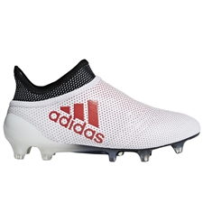 Adidas X 17+ Youth FG Soccer Cleats (Grey/Real Coral/Core Black) | Adidas CP8968 |  SOCCERCORNER.COM