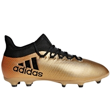 Adidas X 17.1 Youth FG Soccer Cleats (Tactile Gold Metallic/Core Black/Solar Red) | Adidas Soccer Cleats | FREE SHIPPING | Adidas CP8977 |  SOCCERCORNER.COM