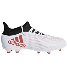 Adidas X 17.1 Youth FG Soccer Cleats (Grey/Real Coral/Core Black) | Adidas Soccer Cleats | FREE SHIPPING | Adidas CP8978 |  SOCCERCORNER.COM