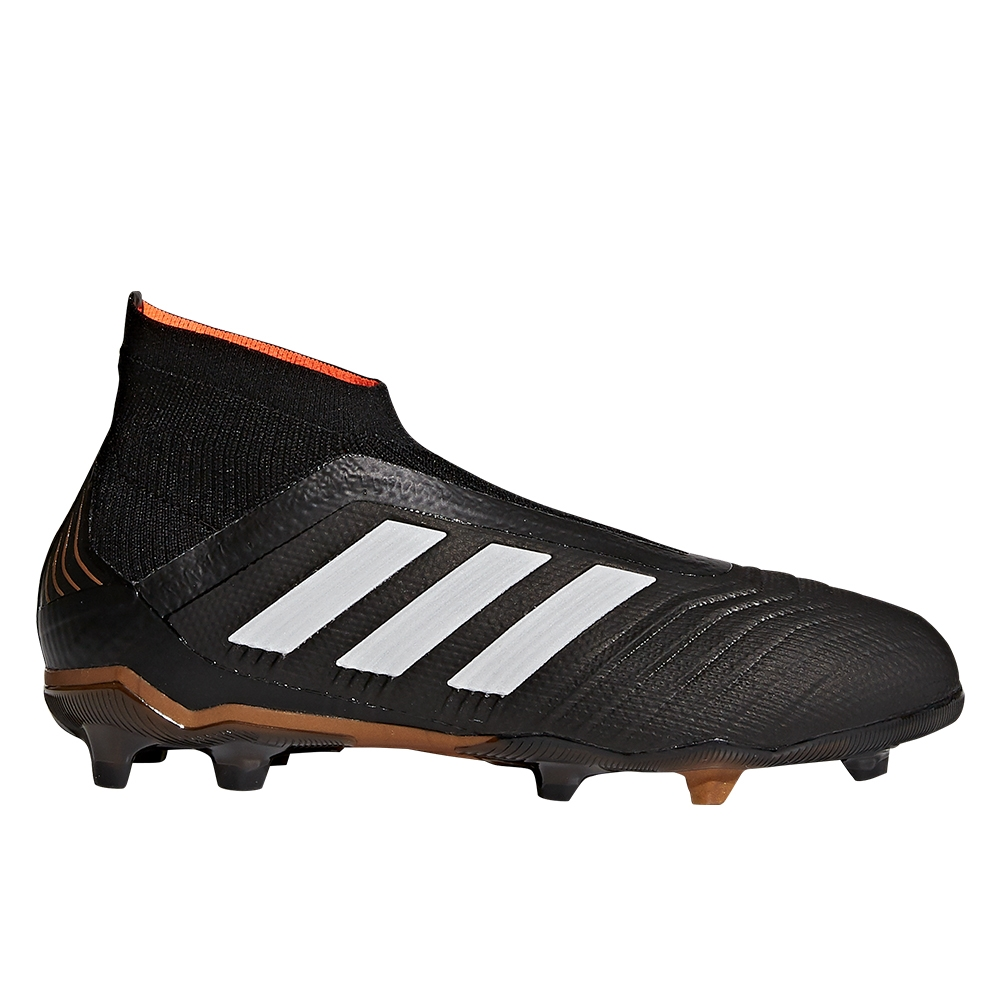 7a7a635152fb Adidas Predator 18+ Youth FG Soccer Cleats (Core Black White Solar Red)