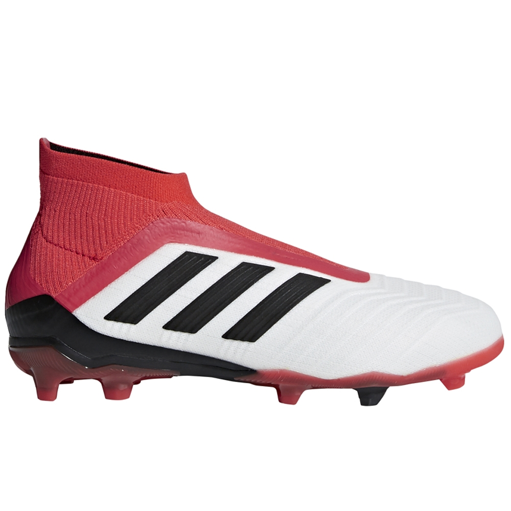 22e4b9f209e6 Adidas Predator 18+ Youth FG Soccer Cleats (White Core Black Real Coral)