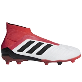 Adidas Predator 18+ Youth FG Soccer Cleats (White/Core Black/Real Coral)