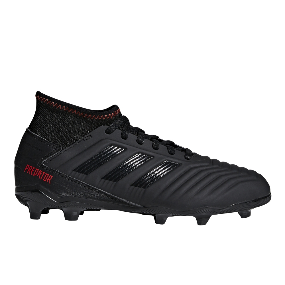 Adidas Predator 19.3 Youth FG Soccer Cleats (Core Black Active Red ... 416686625fd6
