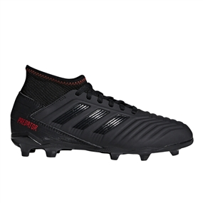 Adidas Predator 19.3 Youth FG Soccer Cleats (Core Black/Active Red)