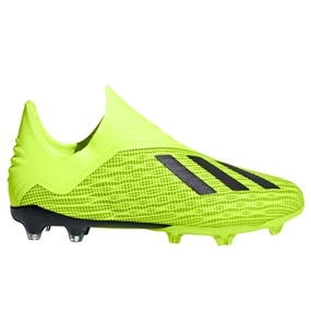 Adidas X 18+ Youth FG Soccer Cleats (Solar Yellow/Black/White)