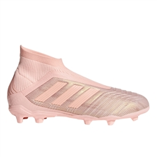 Adidas Predator 18+ Youth FG Soccer Cleats (Clear Orange/Trace Pink)